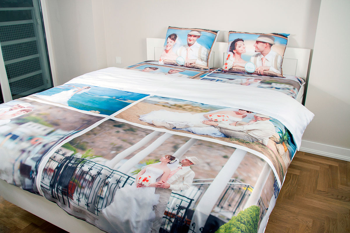 personalised photo bedding