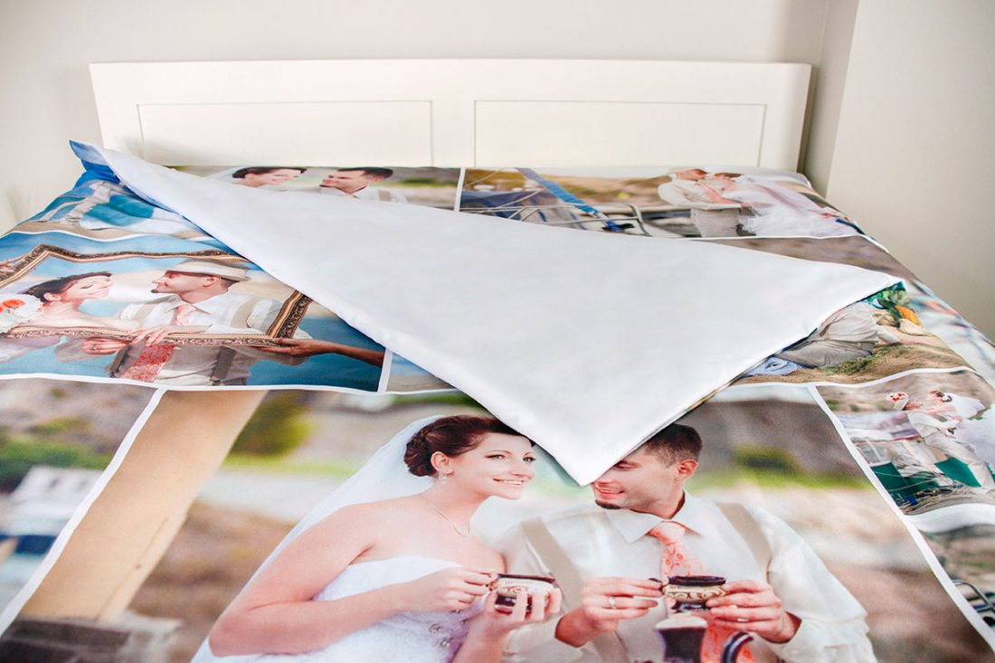 photo collage duvet cover