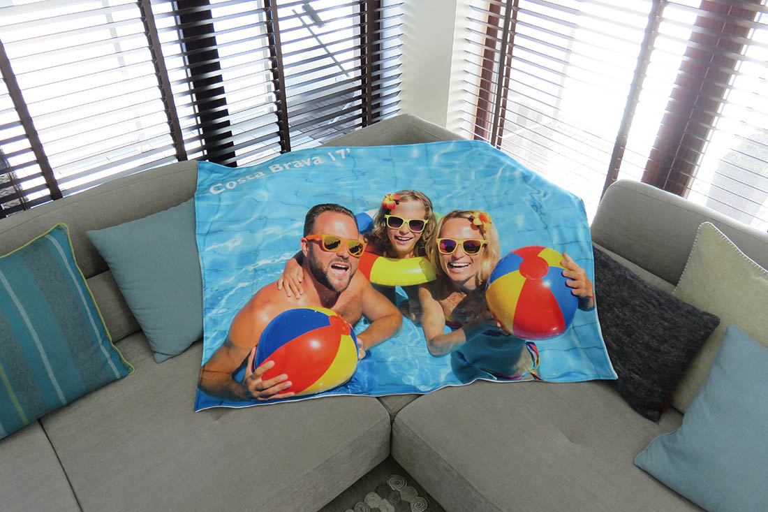 custom printed blanket